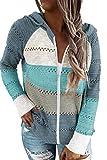 Acelitt Womens Casual Lightweight Long Sleeve Zip up...