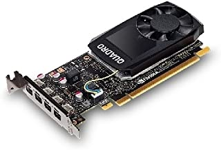 DELL 490-BDXO - Tarjeta gráfica (Quadro P1000, 4 GB, GDDR5, PCI Express x16 3.0, 1 Ventilador(es))