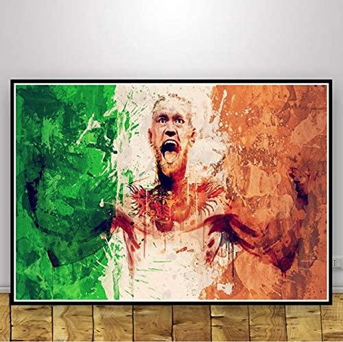 Conor Mcgregor Guantes De Boxeo Carteles Deportivos E Impresiones Pinturas Modernas En Lienzo Cuadros De Pared para Sala De Estar Decoración del Hogar 40X50Cm (Jn2695)