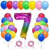 Globos de cumpleaños coloridos, 40 globos de látex de colores, globos gigantes, decoración para cumpleaños de niñas y niños (7)
