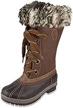 LONDON FOG Womens Melton Cold Weather Waterproof Snow Boot Cognac 11 M US