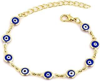 Infinite Memories Good Luck Symbols Eyes Hamsa Hand of Miriam Fatima Lucky Protective Bracelets for Women Girls