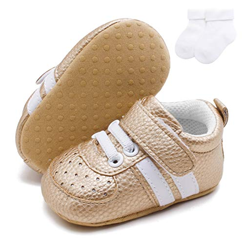 GULUNONG Baby Boys Girls Oxford Shoes Infant Sneakers Non Slip Rubber Sole Ankle Boots Toddler First Walker Crib Dress Shoes