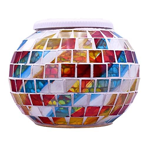 Montloxs Lámpara Solar de Bola de Mosaico Que Cambia de Color, Luces LED de jardín con energía Solar, luz de césped Decorativa para jardín Impermeable al Aire Libre