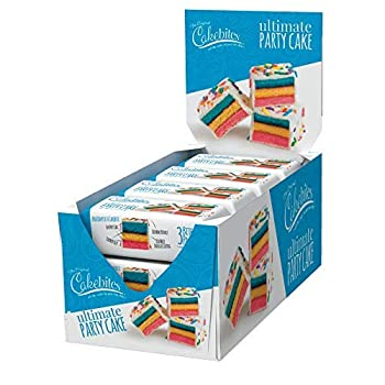 The Original Cakebites by Cookies United Grab-and-Go Bite-Sized Snack Ultimate Party Cake 12 Pack of 3 Cookies
