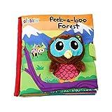 LALANG Livre Tissu Souple en Tissu pour bébé Intelligence Development Livre Jouet éducatifs (Hibou)