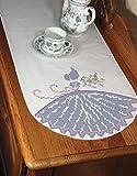 FAIRWAY Timbrato Perle Edge Dresser sciarpa 15'X 42'-Cross Stitch Lady