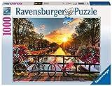 Ravensburger Puzzle 1000 Teile Fahrräder in Amsterdam - Farbenfrohes Puzzle für Erwachsene und Kinder in bewährter Ravensburger Qualität