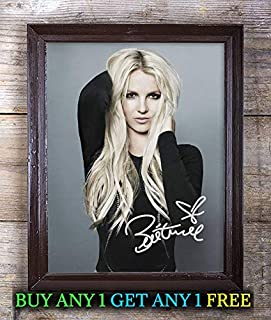Britney Spears Glory Autographed Signed Reprint 8x10 Photo #18 Special Unique Gifts Ideas for Him Her Best Friends Birthday Christmas Xmas Valentines Anniversary Fathers Mothers Day