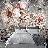 TIANZXS Estilo Europeo 3D estéreo Flores murales fotográficos...