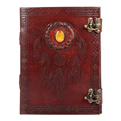 GnG - Diario in pelle Pankh con quaderno in pietra :: Fatto a mano in India :: 6x8 per arte