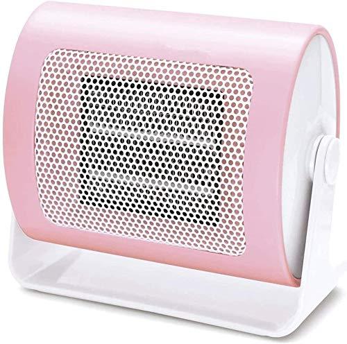 Calentador eléctrico portátil, Mini calentador, 500W Mini PTC de cerámica ventilador calefactor eléctrico, con un 90 Dispositivo Grado de oscilación protección contra sobrecalentamiento, conveniente f