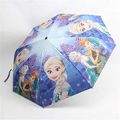 LCM Disney de Dibujos Animados Paraguas Tres Paraguas Plegable Boy Chica Estudiante...