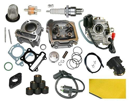 UNTIMERO Cilindro CARBURADOR Kit para ZHONGNAN BD50QT-20 50 4T hasta2017