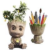 Baby Groot Succulents Pot, Cute Succulent Pot Flower Succulent Planters , Baby Groot Flower Pot Pencil Pen Holder Gift for Kids