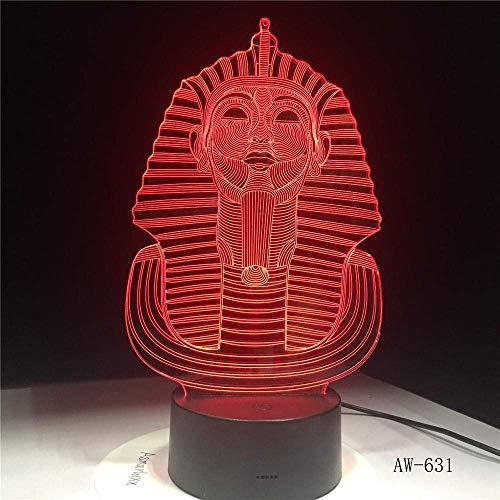 3D Kreative Ägyptische Pyramide Tischlampe Optische Täuschung Nachtlicht 7 Farben Stimmungswechsel Lampe Büro Licht