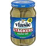 Vlasic Purely Pickles Kosher Dill Stackers, 6 - 16 FL OZ Jars