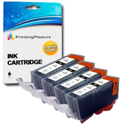 4 SCHWARZ Druckerpatronen für Canon Pixma MG5750 MG5751 MG6850 MG6851 MG7750 TS5050 TS6050 MG5752 MG5753 MG6852 MG6853 TS5051 TS5053 TS6051 TS6052 | kompatibel zu PGI-570PGBK XL