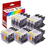 MZL Ink Cartridges 18Pack LC71XL LC75XL LC79XL Combo Pack Replacement for Brother LC-71 Black Ink LC-75XL LC-79XL MFC-J430W J435W J825DW J835DW J6710W J5910DW (9 Black, 3 Cyan, 3 Magenta, 3 Yellow