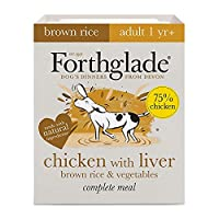 WET DOG FOOD PACK: 18 X 395g trays of brown rice wet dog food made with chicken, liver, brown rice and vegetables. Suitable for adult dogs aged 1-7 years NATURAL INGREDIENTS: Bursting with goodness and made using natural ingredients, with added vitam...
