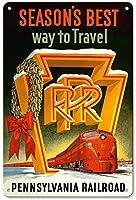 ペンシルベニア鉄道を旅する今シーズンの最高の方法 金属板ブリキ看板警告サイン注意サイン表示パネル情報サイン金属安全サイン