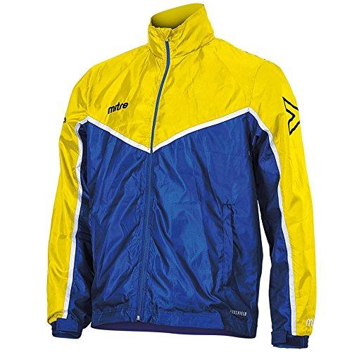 Mitre T70018 Chubasquero, Unisex Adulto, Royal/Yellow/Blanco, S