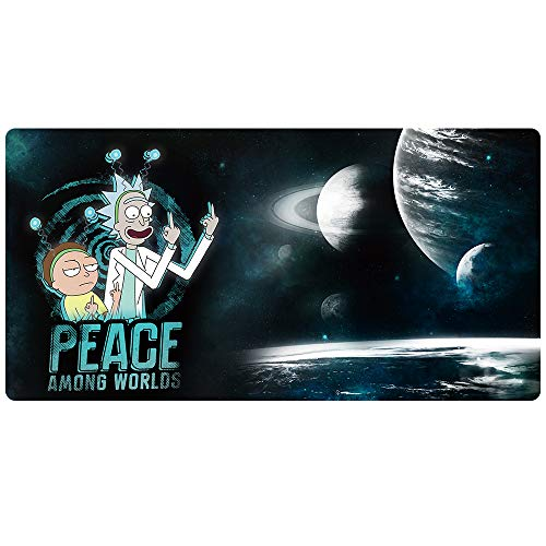 Bimor Extended Gaming Mouse Mat / Pad - Large, Wide (Long) Custom Professional Mousepad, Stitched Edges, Ideal for Desk Cover, Computer Keyboard, PC and Laptop (90x40 finger023)