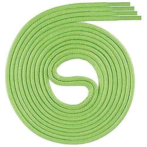 Swissly 1 par de cordones encerados de calidad premium, redondos para negocios, zapatos de vestir y cuero, diámetro de 2-4 mm, resistentes, color verde, 128 longitud 75 cm
