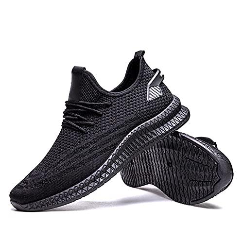 Remxi Zapatillas de deporte para hombre, transpirables, para exteriores, para fitness, para correr, color Negro, talla 40 2/3 EU