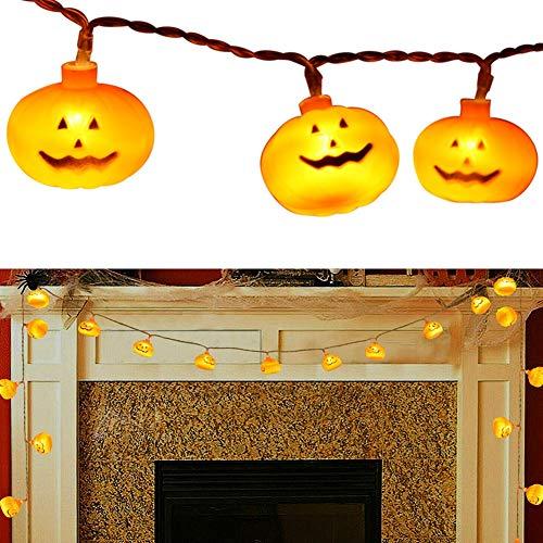 Bebliss Lichterketten für die Halloween-Deko-Serie, kleine Kürbis-Lichter (ohne Batterie)