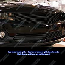 Fits 2010-2013 Chevy Camaro LT/LS V6 Short Style Black Billet Grille Grill Combo # C61077H