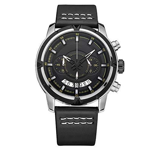 Voigoo Relogio Masculino Herrenuhr Top-Marke Quarz-Uhr-Mann-beiläufiges Leder Militärwasserdichte Sport-Armbanduhr