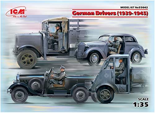 ICM 35642 German Drivers(1939-1945)(4 Figuren, grau
