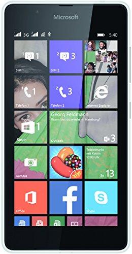 Microsoft A00026855 Lumia 540 Smartphone (12,7 cm (5 Zoll) Bildschirm, 720 x 1280 Pixels, 8MP, 1GB RAM, Win 8.1) weiß/schwarz
