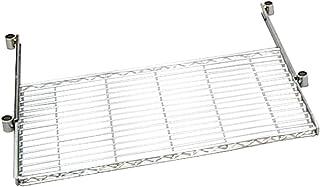 アイリスオーヤマ ラック メタルラック パーツ 棚板 スライドトレー パソコンデスク クリアシート付き 防サビ加工 ポール径25mm 幅91×奥行46×高さ4.5cm 耐荷重8㎏ ホワイト MR-91PST