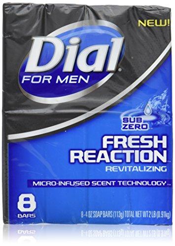 Dial for Men Fresh Reaction, Sub Zero Glycerin Bar Soap, 4 Oz Bars, 8 Ct. by Dial