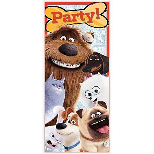 "Unique Plastic The Secret Life of Pets Door Poster, 60"" x 27"" Indiana"