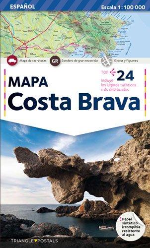 Costa Brava, mapa: Mapa