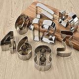 CXIANHUI Moldes para Galletas,9 Pcs/Set De Cocina Creativa Bicarbonato Herramientas 3D Digital Creativo Conjunto De Cookies De Acero Inoxidable Galleta Cookie Herramientas del Molde