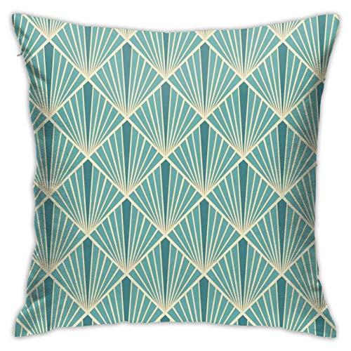 Funda de almohada, color turquesa (1) funda de almohada moderna, cuadrada, decoración para sofá, cama, silla, coche, 45,7 x 45,7 cm