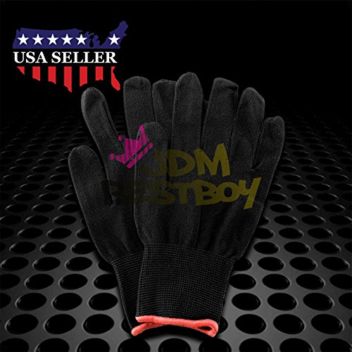 JDMBESTBOY Professional Vinyl Wrap Application Window Tint Installers Seamless Cotton Glove Anti-Static Complex Curves Car Tool Knife