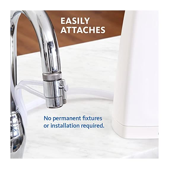 Aquasana AQ-4000W Countertop Drinking Water Filter System, White 5 If the faucet diverter valve does not fit, you will need to install one of the brass faucet adapters before attaching it.