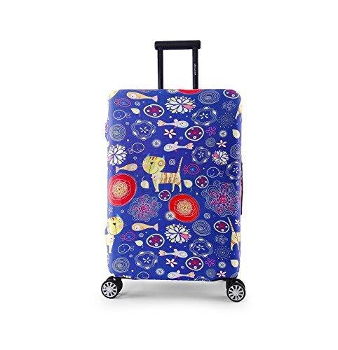 Periea Premium Elasticated Suitcase Luggage Cover - 38 Different Designs - Small, Medium or Large (Medium, Purple Cats)