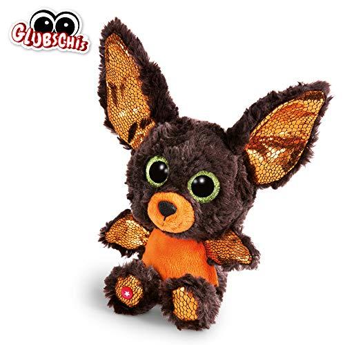 NICI 46304 Glubschis Kuscheltier Halloween Fledermaus, Flauschiges Plüschtier mit großen Glitzeraugen, süßes Stofftier für Kinder und Kuscheltierliebhaber