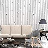 LZYMLG Papel pintado autoadhesivo liso de PVC dormitorio de dormitorio dormitorio sala de estar tienda decoración renovación pegatinas impermeables Gris estrella