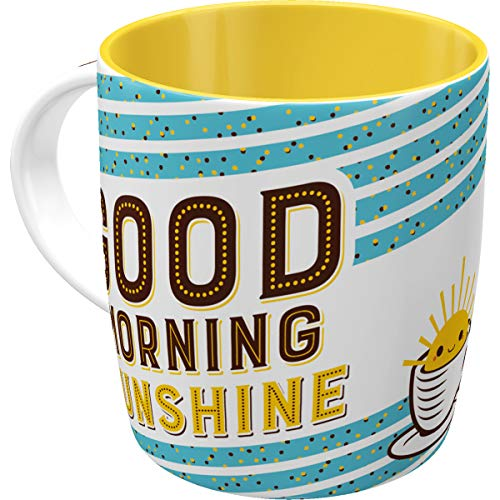 Nostalgic-Art 43028, Word Up Good Morning, Tasse, Keramik, 8.5 x 8.5 x 9 cm
