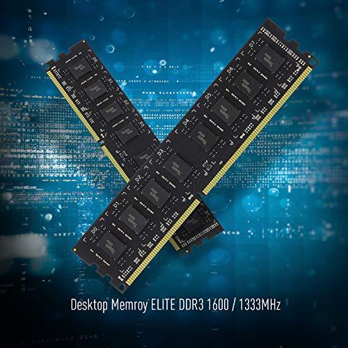 TEAMGROUP Elite DDR3 16GB Kit (2 x 8GB) 1600MHz (PC3-12800) CL11 Unbuffered Non-ECC 1.5V UDIMM 240 Pin PC Computer Desktop Memory Module Ram Upgrade - TED316G1600C11DC01-16GB Kit (2 x 8GB)