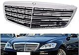 lndytq Rejilla Delantera Abs, Rejilla de Nido de Abeja para Coche, Rejilla de Parachoques, Rejilla de Entrada de Aire de modificación de Carreras para Mercedes Benz W221 S550 S63 2007-2013 S63 S65