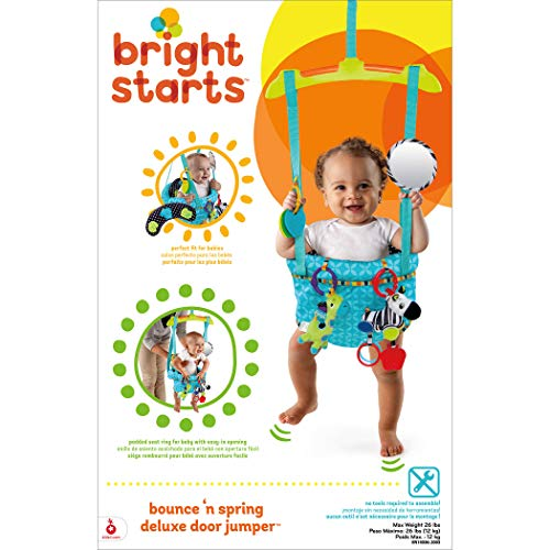 Bright Starts 10410 Bounce and Spring Deluxe Door Jumper - 10