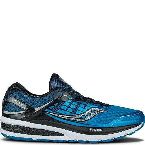 Saucony - Triumph Iso 2, Scarpe da Trail Running Uomo, Blu (Blau/Schwarz/Silber), 42 EU